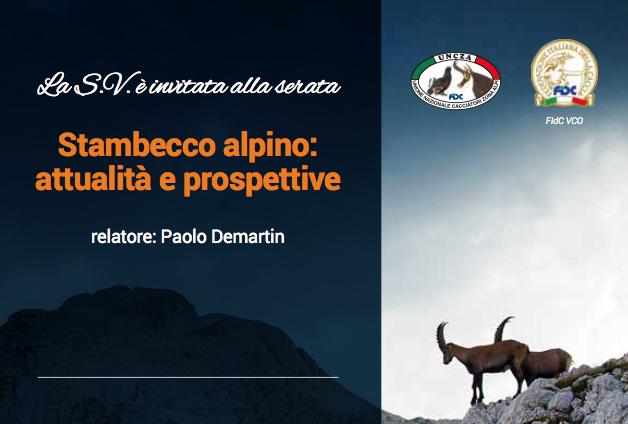 Serata Stambecco alpino – 18 gennaio 2020